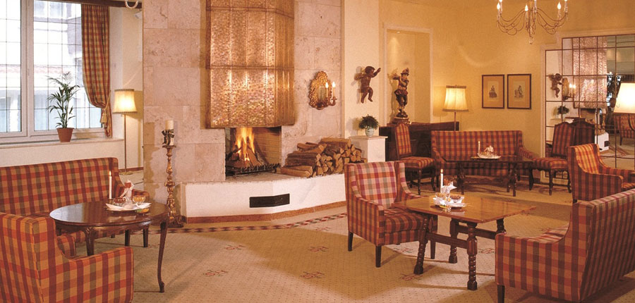 Sporthotel Igls, Igls, Austria - lounge with fireplace.jpg